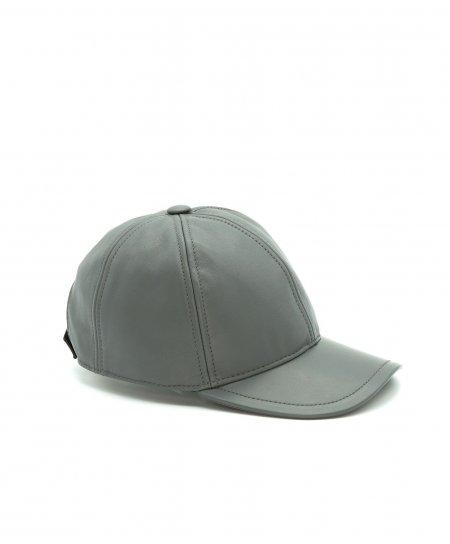 Cappello baseball in pelle grigia unisex berretto strappo regolabile
