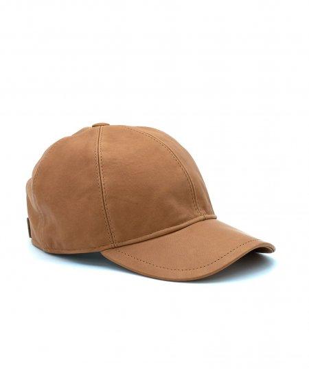Cappello baseball in pelle miele unisex berretto strappo regolabile